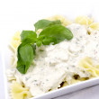 Farfalle with Chicken in Mushrooms and Herbs Sauce — Stock Photo #67278649