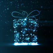 Printplaat achtergrond, de gift van kerstmis — Stockvector