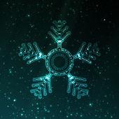 Abstract fantasy snowflake illustration — Stock Vector