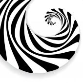 Spiral abstract background, dynamic art — Stock Vector