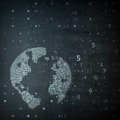 Technology image of globe — Stock Vector