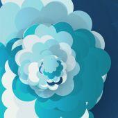Blue sky clouds illustration — Stock Vector