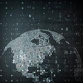 Технологическое изображение земного шара — Cтоковый вектор