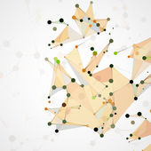 Futuristic abstract  dna — Stock vektor