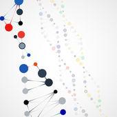 Abstract DNA, futuristic molecule — Stock Vector
