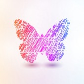 Abstract futuristic butterfly — Stock Vector