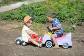 Toy car accident — Stock Photo