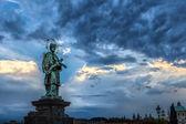 Prague Charles Bridge - 7 - Saint Jan Nepomucky — Stock Photo