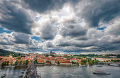 General view of Prague's historic center and the river Vltava - 4 — Stock Photo
