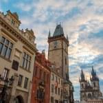 Sunrise on Old Town Square Prague — Stock Photo #79501710