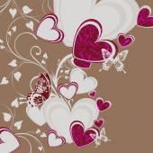 Piękny pozdrowienie uroczysty z serca — Zdjęcie stockowe