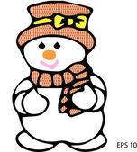 Snowman vector — Stock Vector