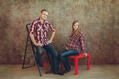 彼女の夫と妊娠中の女性 — ストック写真