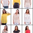 Set of girl  in various clothes — Stock Photo #62930825