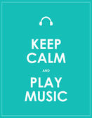 Keep calm and play music,vector background,eps10 — Stock Vector