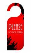 Please do not disturb door hanger — Stock Vector