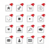 Special flat ui icons with Christmas design for web and mobile a — Stock Vector