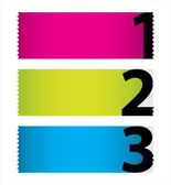 Special colored stickers set with numbers — Vecteur
