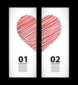 Creative paper labels for valentine's day — Stock Vector