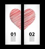Creative paper labels for valentine's day — Vetor de Stock