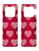 Door tags with Valentine's day design — Stock Vector