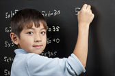 Doing his multiplication. — Stock Photo
