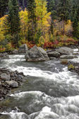 Rapids on Wenatchee River. — Stock Photo