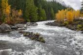 Whitewater on the Wenatchee River. — Stock Photo