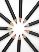 Pencils in a circle. — Stock Photo