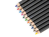 Pencils lined up diagonally. — Stock Photo