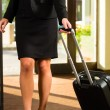 Businesswoman arriving at Hotel — Stock Photo #68384947