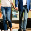 Senior married couple arriving at Hotel — Stock Photo #68384985