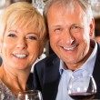 Senior couple at bar — Stock Photo #68384991