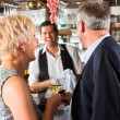 Senior couple at bar — Stock Photo #68385185