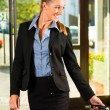 Businesswoman arriving at Hotel — Stock Photo #68385227