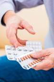 Senior medicate with pills — Stock Photo