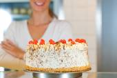 Female baker or pastry chef — Stock Photo