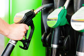 Refuel the car on a gas station — Stock Photo