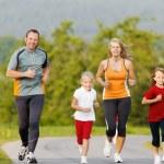 Family running for sport outdoors — Stock Photo #69591739