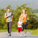Family running for sport outdoors — Stock Photo #69591773