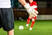 Man scoring a goal — Stock Photo