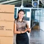 Customer Service in Asian logistics warehouse — Stock Photo #69698287