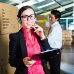 Customer Service in a warehouse — Stock Photo #69698379