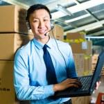 Customer Service in a warehouse — Stock Photo #69698411