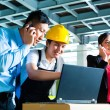 Worker or production manager and customer service — Stock Photo #69698517