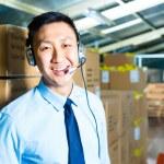Customer Service in a warehouse — Stock Photo #69698755