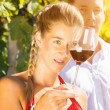 Woman and man drinking wine — Stock Photo #71510787