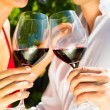 Woman and man drinking wine — Stock Photo #71510923