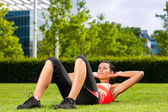 Urban sports - fitness in the city — Stock Photo