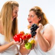 Healthy eating - women, fruits and vegetables — Stock Photo #71520755